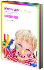 barevný papír Master copy recycled A4, 80g, 100 listů mix barev