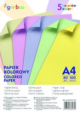 sada barevných papírů A4, 80g, 100 listů, mix pastelových barev
