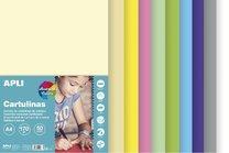 sada barevných čtvrtek A4, 170g, 50 listů, mix pastelových barev