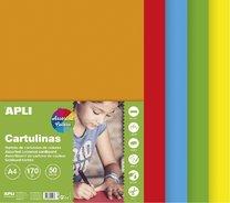 sada barevných čtvrtek A4, 170g, 50 listů, mix sytých barev