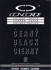 uhlový papír Concorde A4, 100 listů, černý