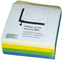 samolepicí barevná obálka na CD, 100ks