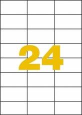 etikety polyesterové 70x37 mm průhledné mléčné, 480 ks