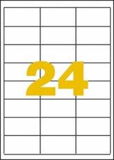 etikety polyesterové 64,6x33,8 mm bílé, 480 ks