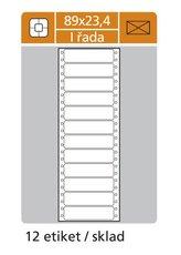 etikety s perforací jednořadé 89x23,4 mm, 6 000ks