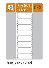 etikety s perforací jednořadé 89x36,1 mm, 4 000ks