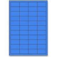 etikety 48,5x25,4mm, / 4 400ks modré