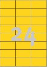 etikety berevné 70x36mm žluté,  2400ks