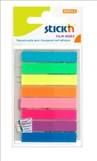 záložky plast Stick´n  Hopax neon 46x8mm, 8x20 lístků