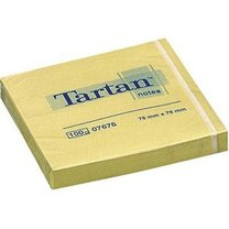 3M Tartan 654/76x76mm žlutý, 100 lístků