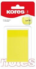 bloček samolepicí transparentní 75x50mm Kores, 50 lístků