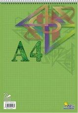 blok A4 spirála 70 listů čtvereček