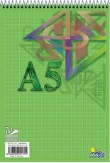 blok A5 spirála 70 listů čtvereček