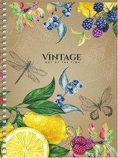 blok B6 Vintage, 120 listů, čtvereček, boční spirála
