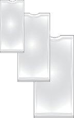 samolepicí hřbetní kapsa 75x25mm, 12 ks