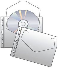 závěsný obal na 1 CD/DVD, 10 ks
