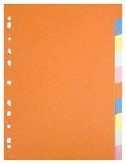 rozlišovač karton A4 10 barev