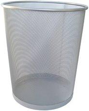 odpadkový koš kovový stříbrný 20l