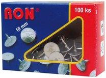 připínáčky RON 10 mm celokovové, 100ks