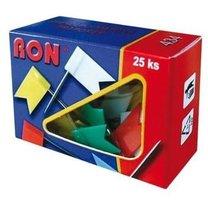 připínáčky RON vlaječky, 25ks