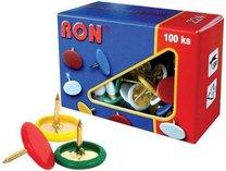 Připínáčky Ron 224 barevné, 100ks