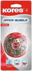 magnetický držák Office Bubble + 100ks dopisních sponek