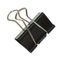 Binder clip 25mm černý, 12ks