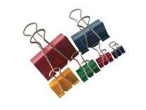 Binder clip 15mm barevný, 12ks
