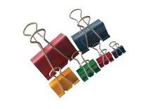 Binder clip 19mm barevný, 12ks