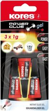 vteřinové lepidlo Kores Power Glue gel 3x1g