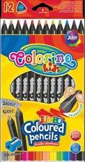 pastelky JUMBO trojhranné Colorino, sada 12 ks, černé
