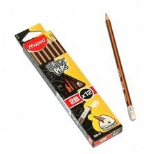 grafitová tužka 2B s gumou, 12ks