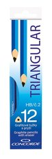 grafitová tužka trojhranná č.2/HB s pryží, 12ks