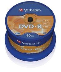 DVD-R Verbatim 4,7 GB (120min) 16x, 50-cake