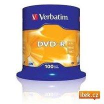 DVD-R Verbatim 16x/4,7GB/spindl box 100ks