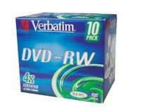 DVD-RW Verbatim 4x/4,7GB/ jewel case 10ks