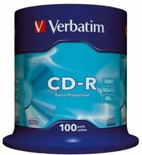 CD-R Verbatim 52x/700MB/spindl box 100ks
