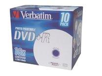 DVD+R Verbatim 16x/4,7GB/jewel case printable 10ks