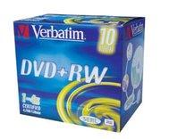 DVD+RW Verbatim 4x/4,7GB/jewel case 10ks