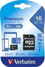 paměťová micro karta SDHC Verbatim 16 GB