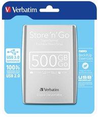 """harddisk Verbatim 2,5"""" 500GB stříbrný"""
