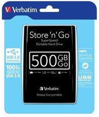 """harddisk Verbatim 2,5"""" 500GB černý"""