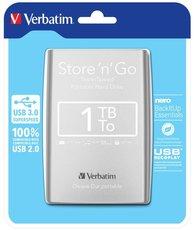 """harddisk Verbatim 2,5"""" 1TB stříbrný"""