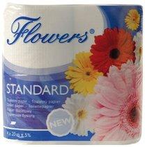 toaletní papír Standard 1-vrstvý, 4 role