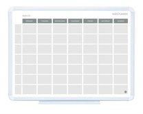 magnetická plánovací tabule týdenní, 45x60cm