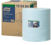 utěrka z netkané textilie Low-Lint Tork 90494/W1/ 1 role tyrkysová