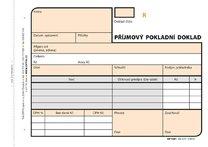 příjmový pokladní doklad NCR Optys 1081, 2x50 listů