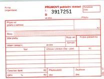 příjmový pokladní doklad NCR č.47, 2x50 listů
