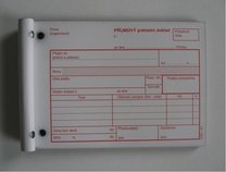 příjmový pokladní doklad NCR A6 č.51, 100 listů