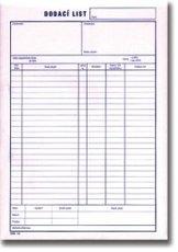 dodací listy A5 NCR č.11, 100 listů